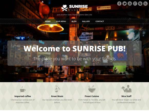 Sunrise-wp-theme