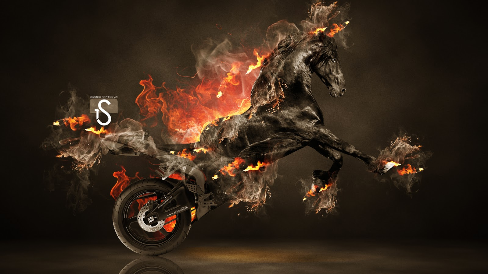 fire horse hd wallpaper