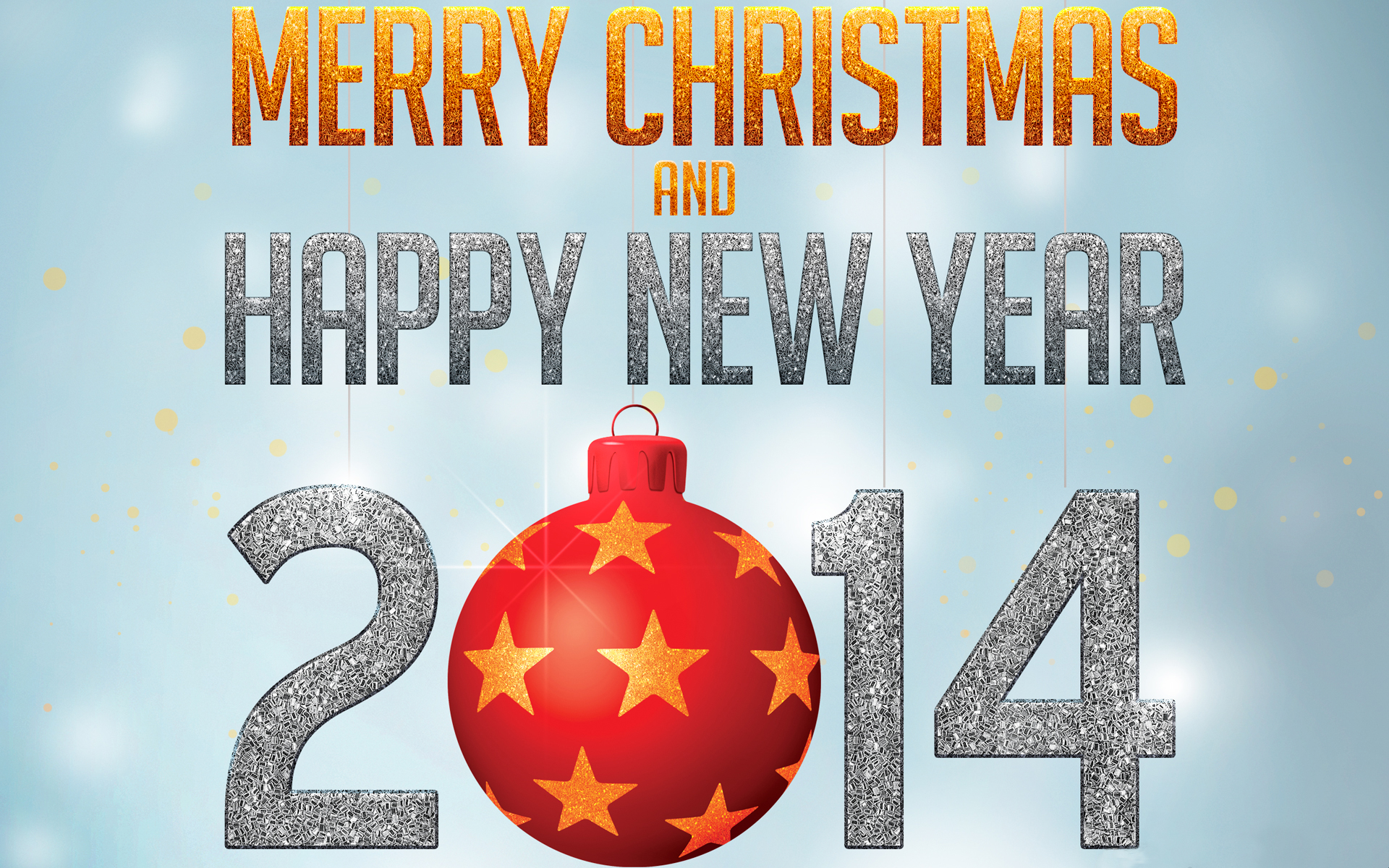 Merry Christmas Happy New Year 2014 Wallpaper 1920