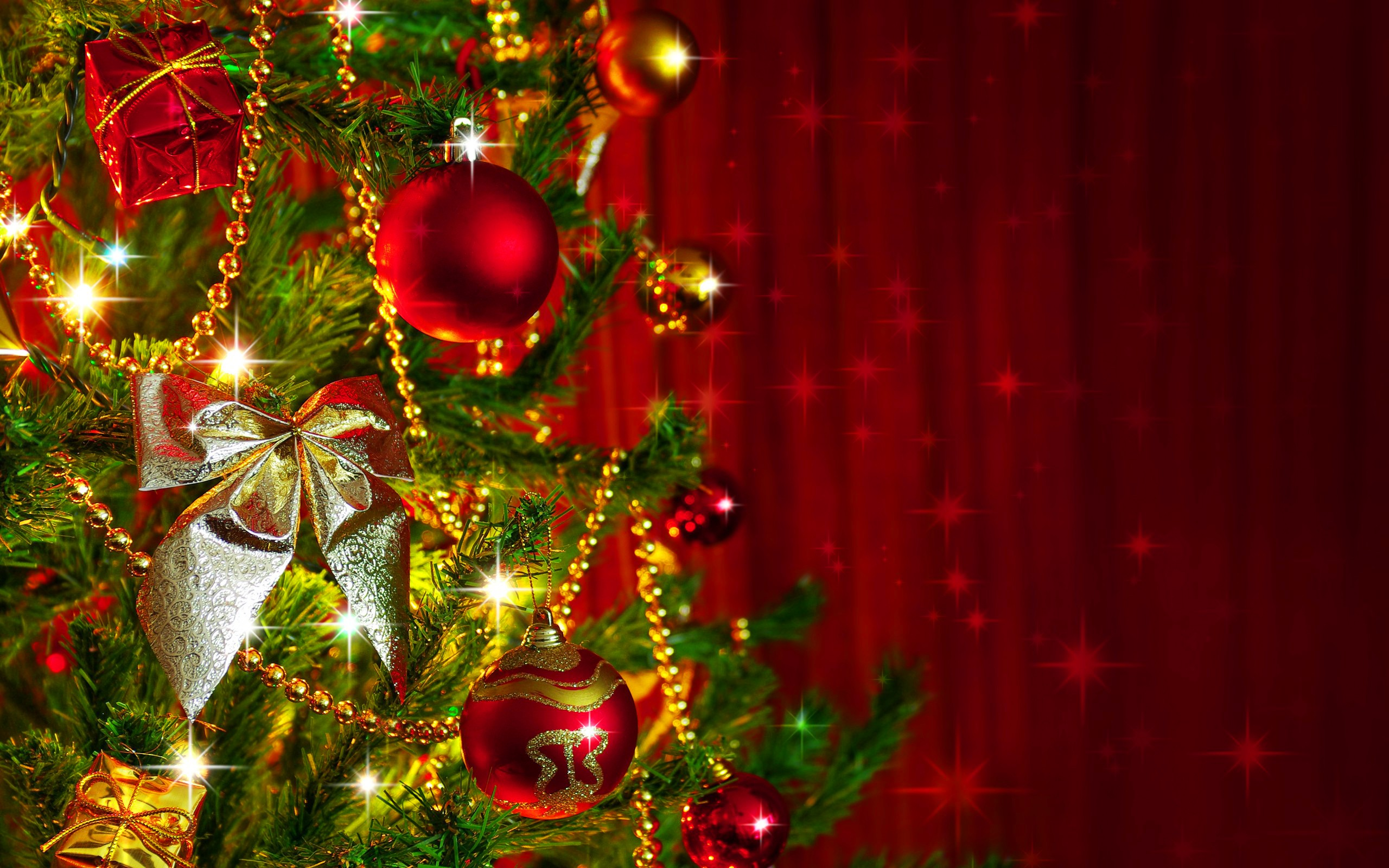 Christmas tree decoration wallpaper for Background decoration