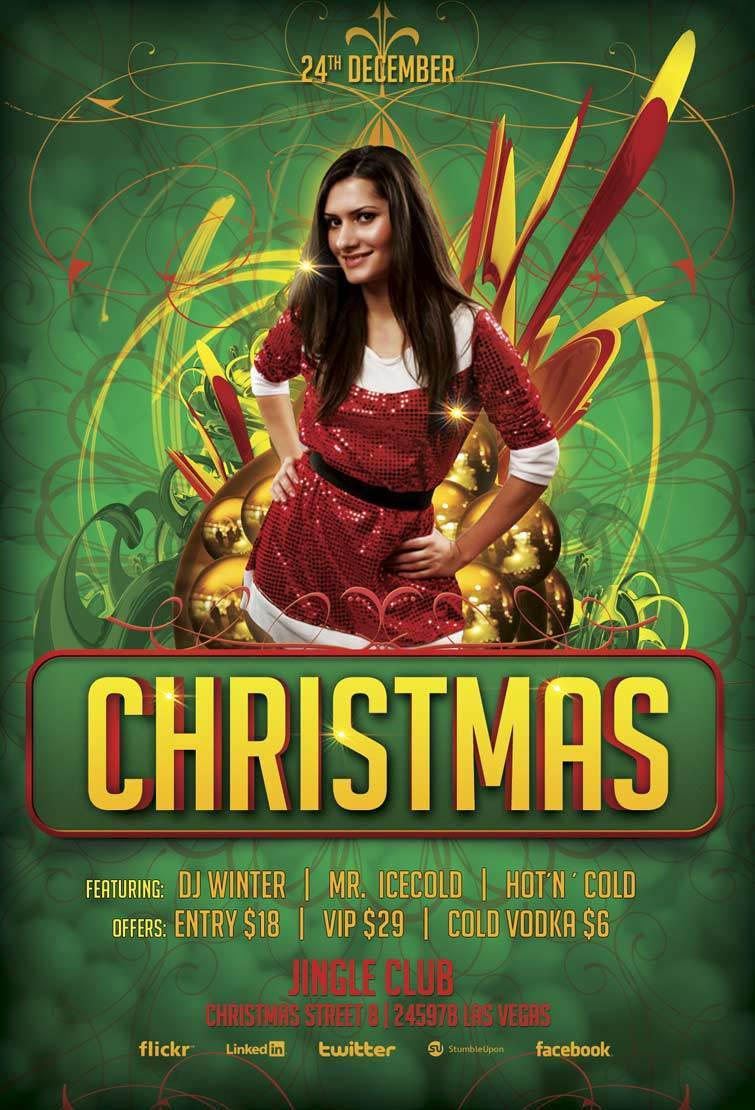 christmas party flyer template 2016