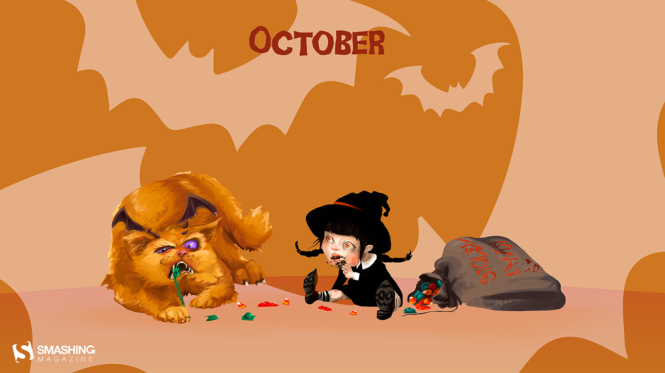halloween-wallpaper-candy-tiny-witches-and-giant-kittens-1366x768