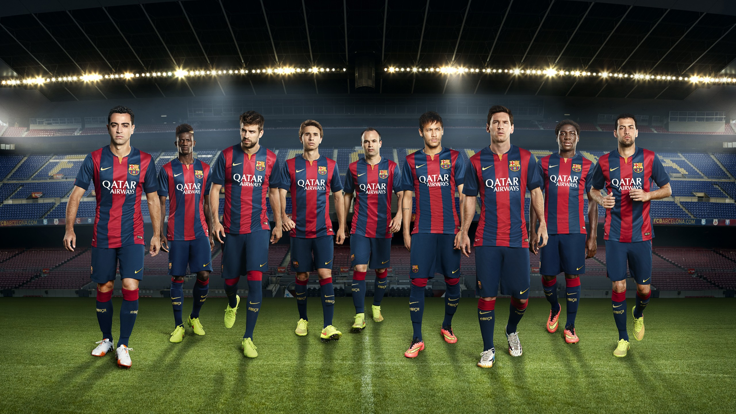 Barcelona Football Club Team Wallpaper 2560x1440