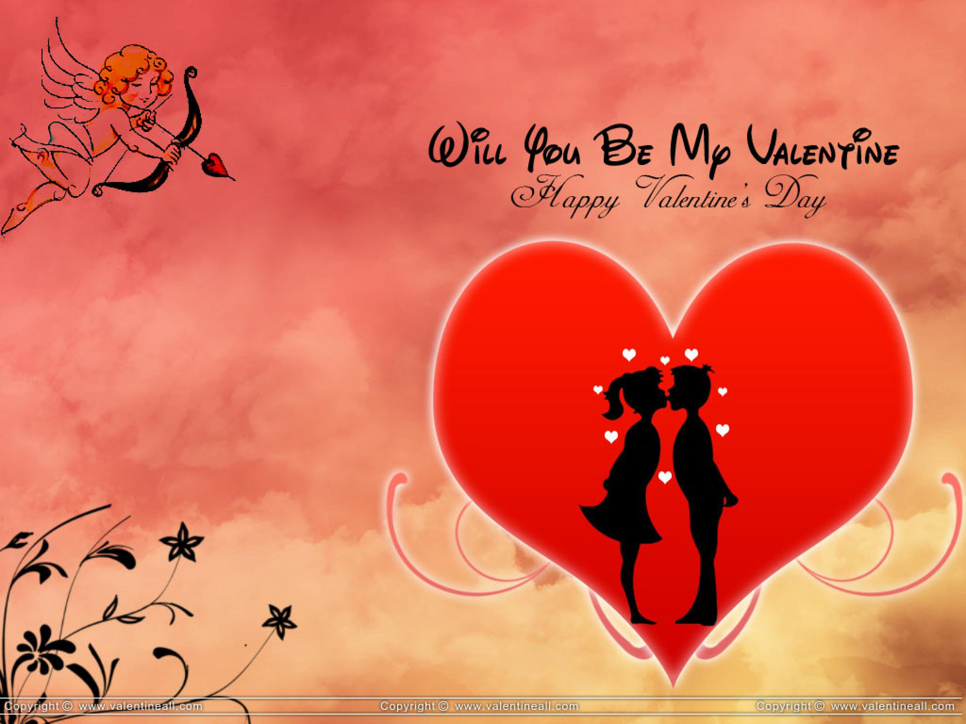 heart kiss background wallpaper will you be my valentine