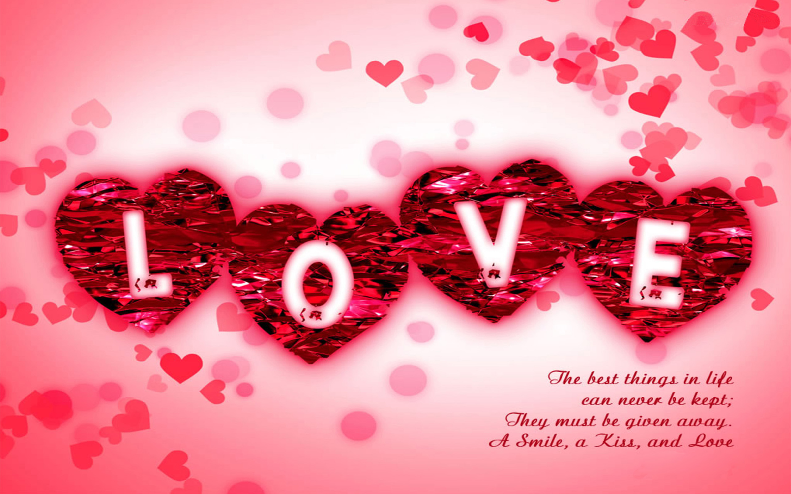 Love Message Pink Desktop Wallpaper 2560x1600