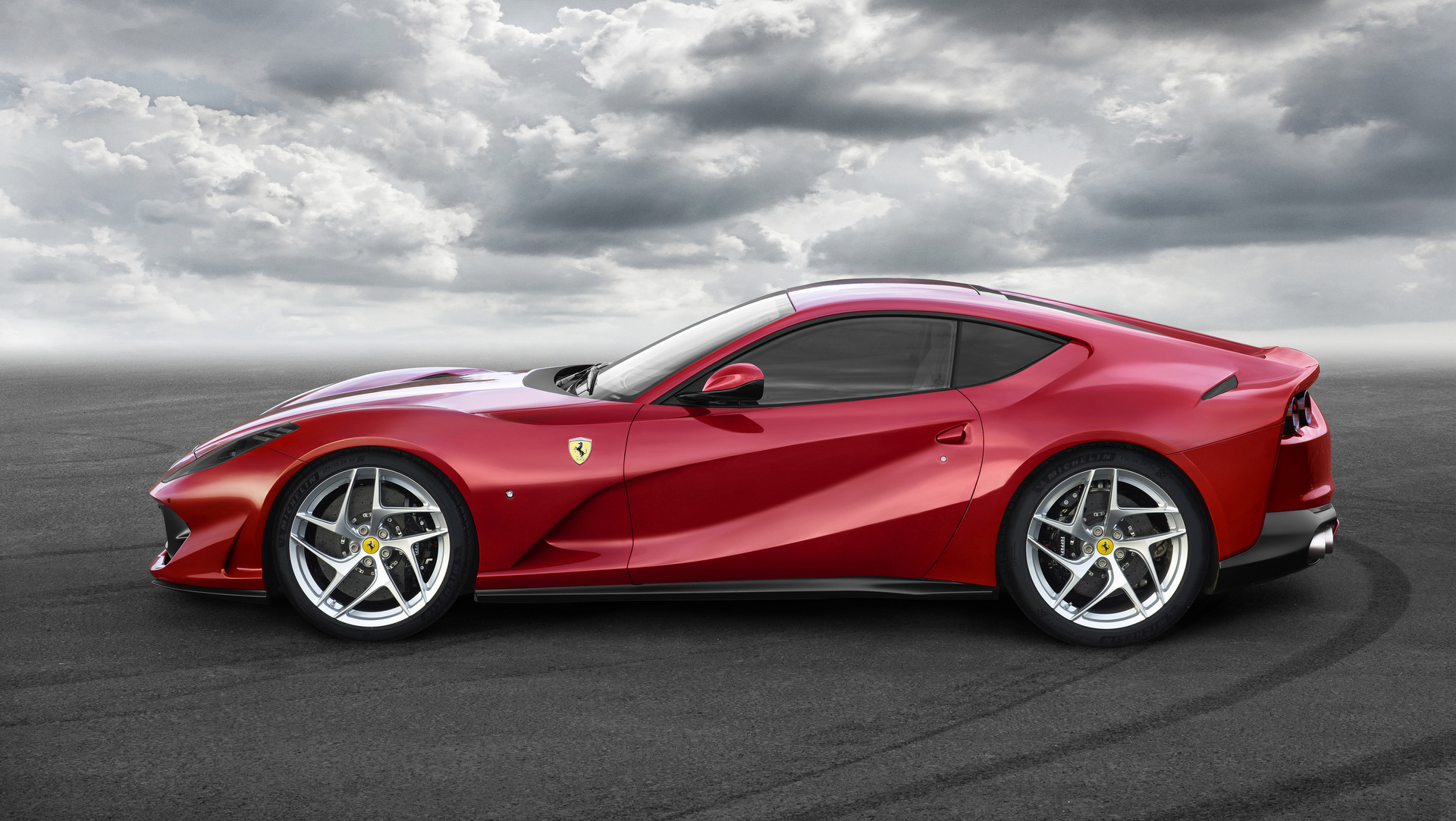 Ferrari 812 superfast car photo side view wallpaper - Car side view wallpaper ...