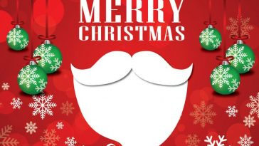 Christmas Santa Creative Greeting Design Vector 2