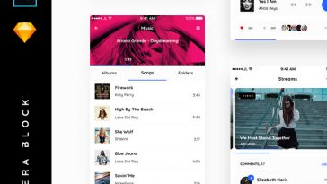 Trendy Design UI Components and App Screens Vera Block1