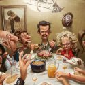 Thanksgiving Party Illustration Image Background Wallpaper 2560x1600
