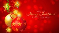 Wish You Merry Christmas and Happy New Year Wallpaper