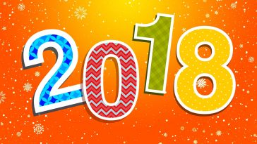 2018 Colorful New Year HD background-1920x1080