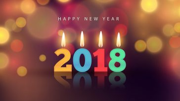 Happy New Year 2018 Blessing Wallpaper HD Background 1920x1080