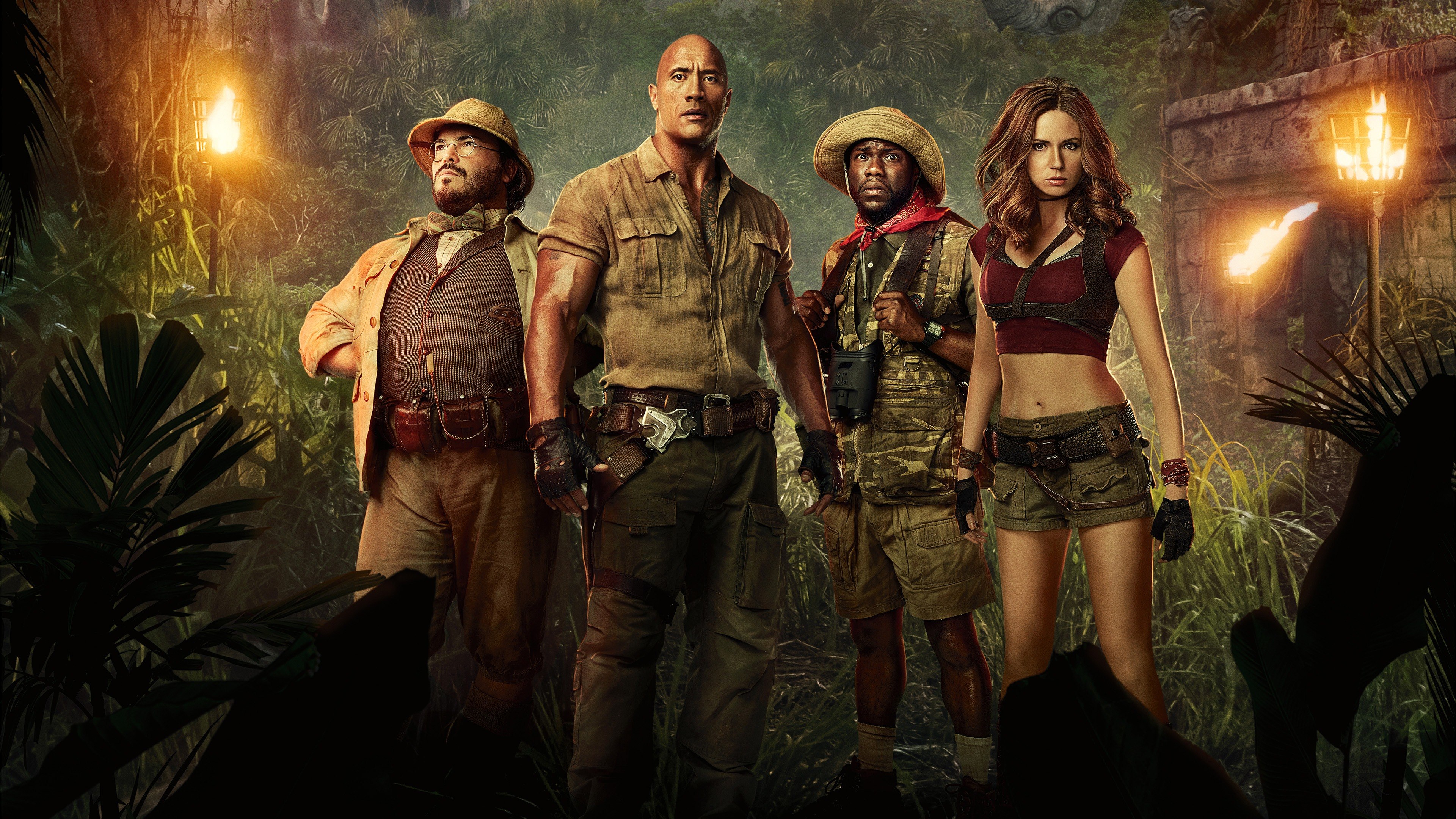 Jumanji Welcome To The Jungle Movie Poster 4K HD Wallpaper