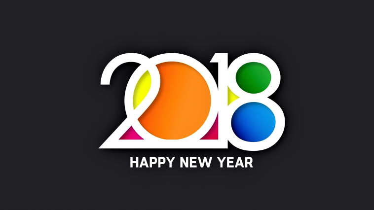 New Year 2018 Wallpaper HD 1080p resolution size 1920x1080