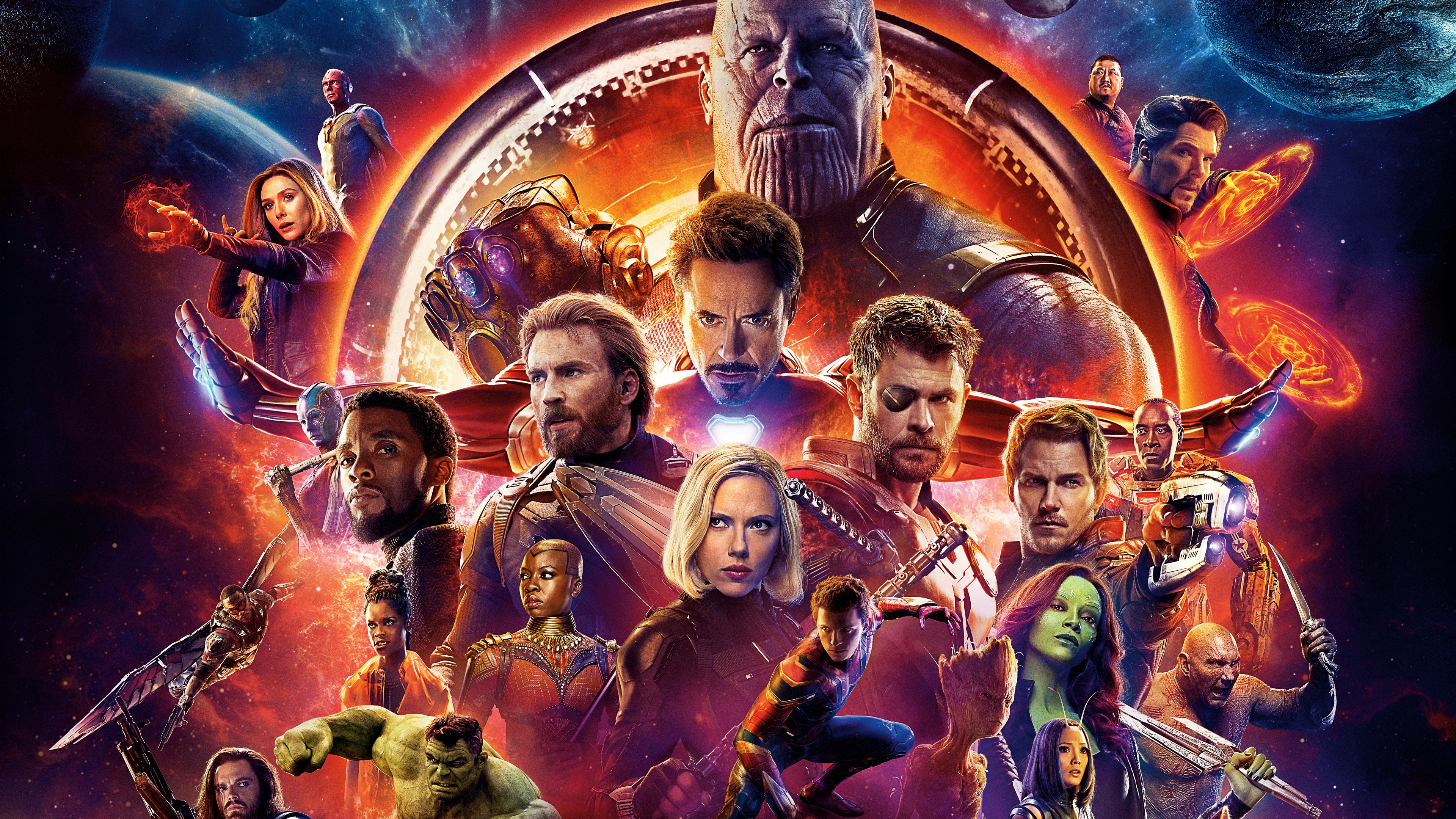 Avengers Infinity War Superhero and Villain 4K Wallpaper-3840x2160