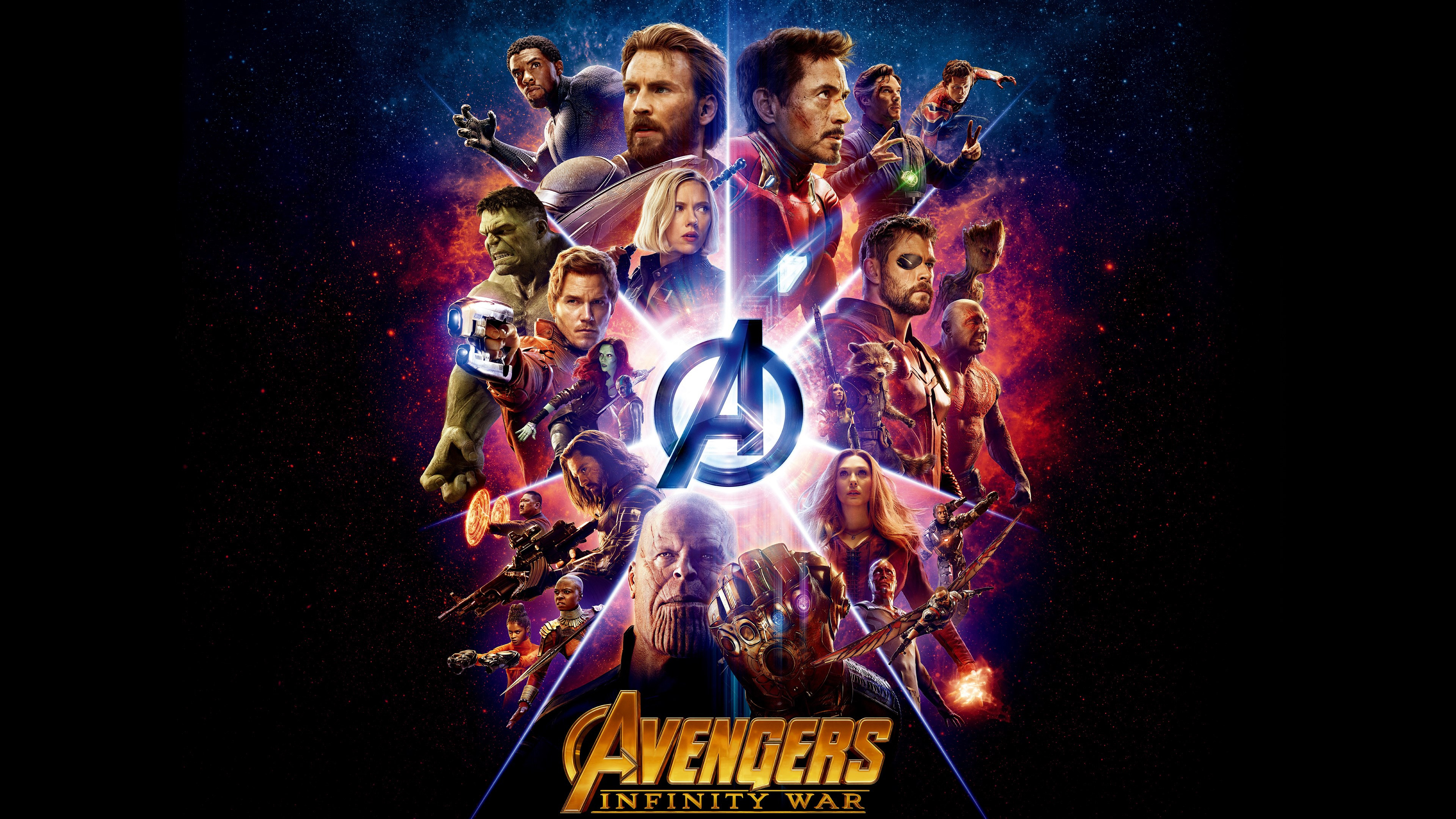 Stunning 4k Film Wallpaper All Heroes Of Avengers Infinity War