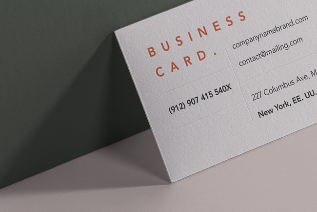 Branding PSD Business Card Mockup Free Download