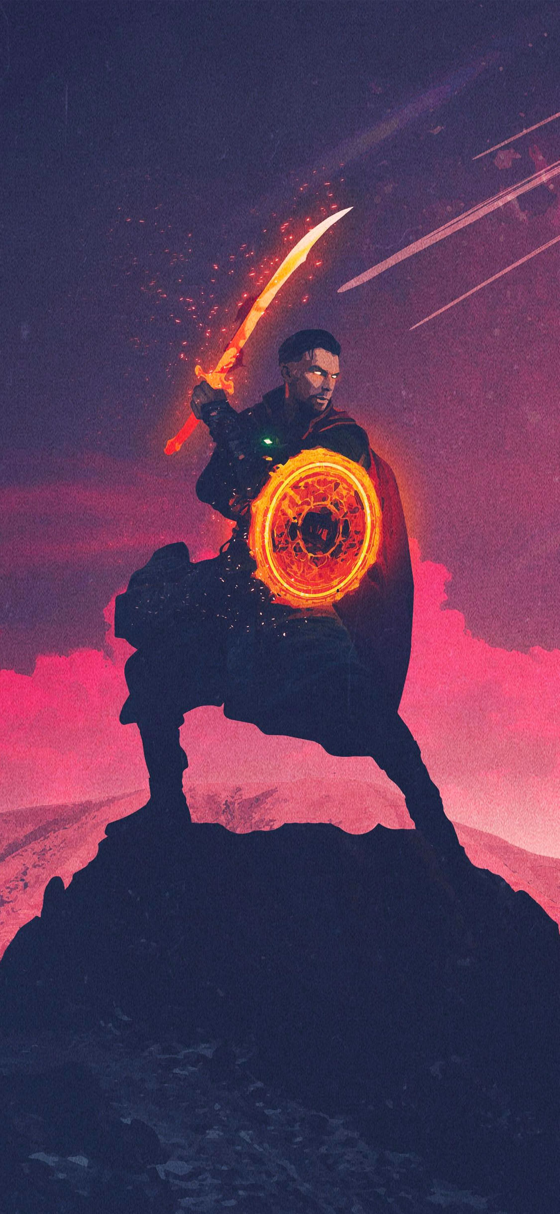 Infinity War Doctor Strange Art iPhone Wallpaper Background