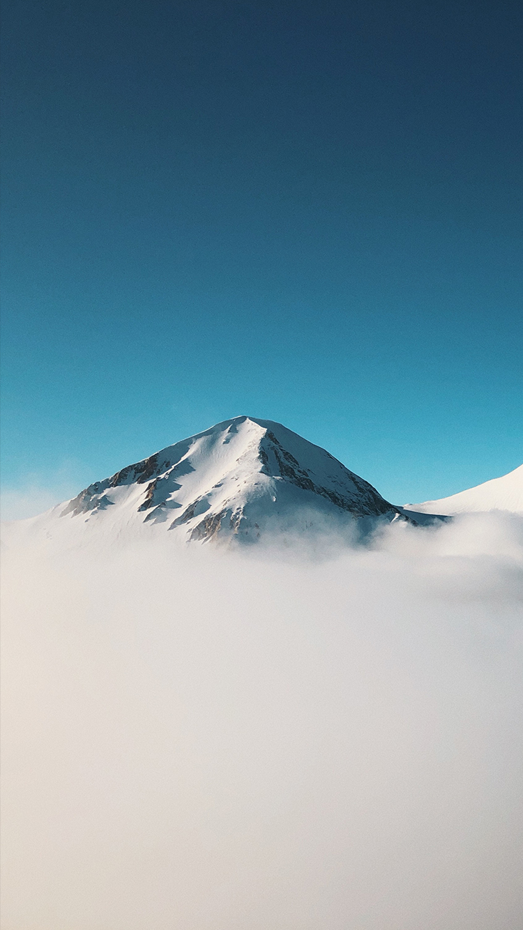 Minimalist Mountain Above Clouds iPhone Wallpaper