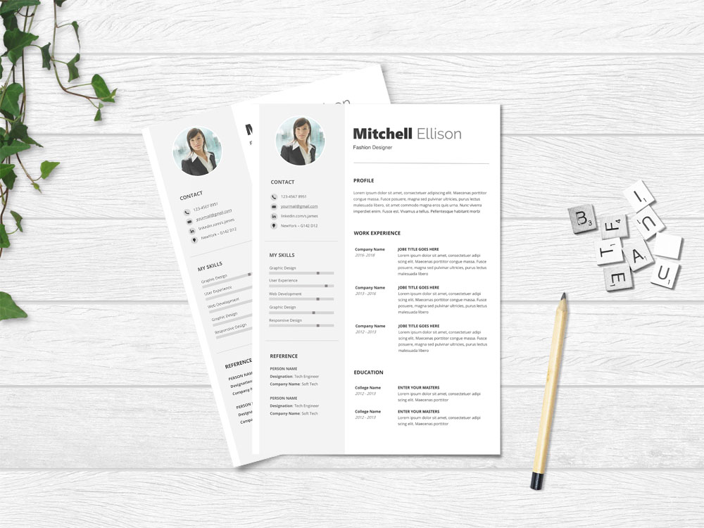 Free Simple Resume Template-With-Minimal-and-Clean-Design