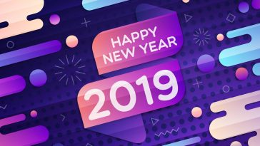 Happy New Year 2019 HD Retina Ready Wallpaper 2880x1800