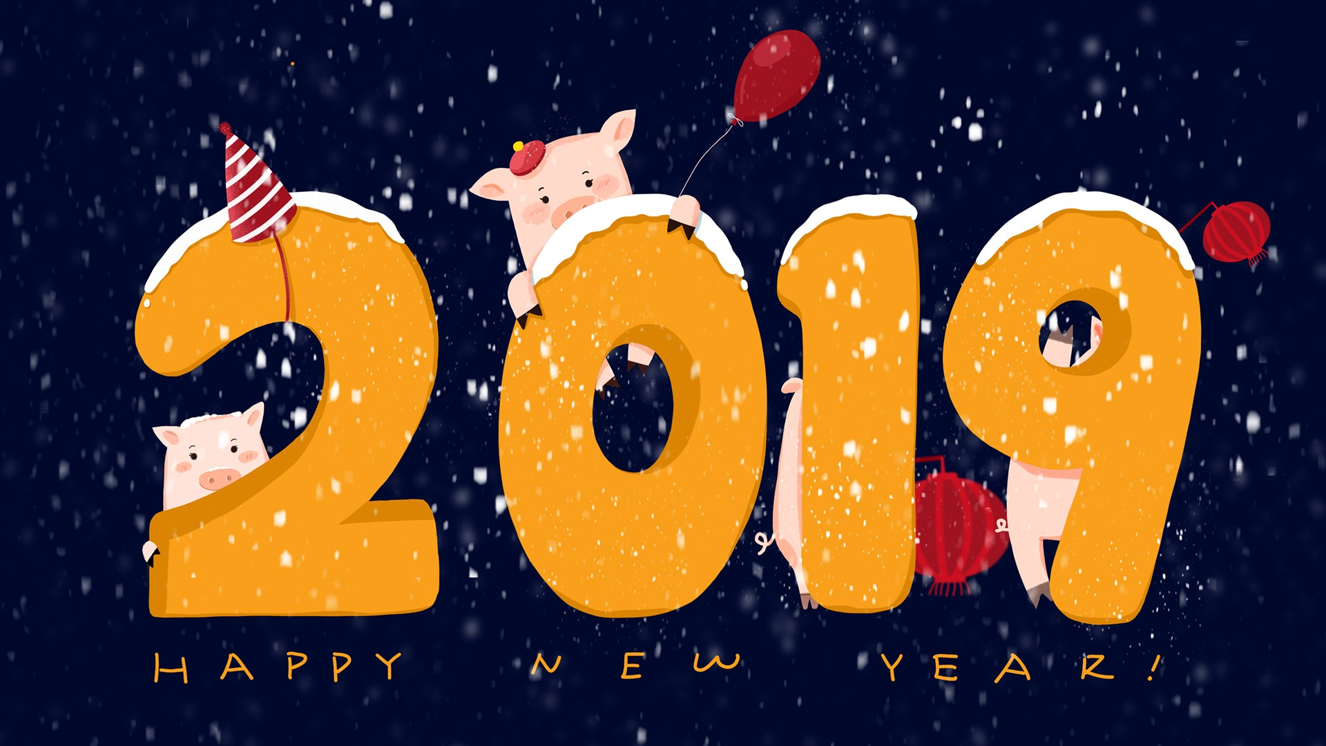 Happy Chinese New Year 2019 - Year of Earth Pig HD Wallpaper