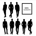 Suited men silhouettes
