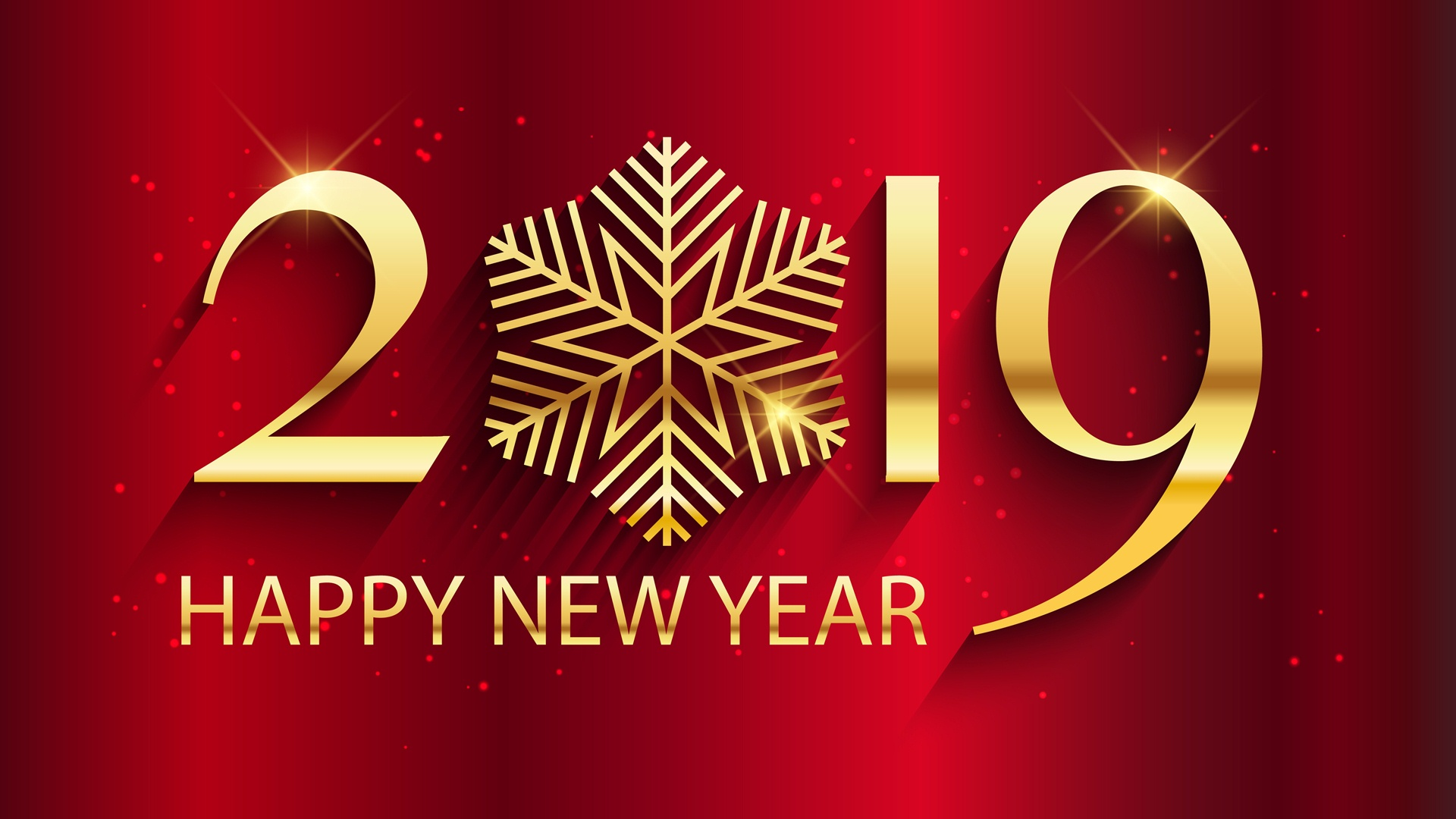 2019 Happy New Year Wallpaper HD 1920x1080