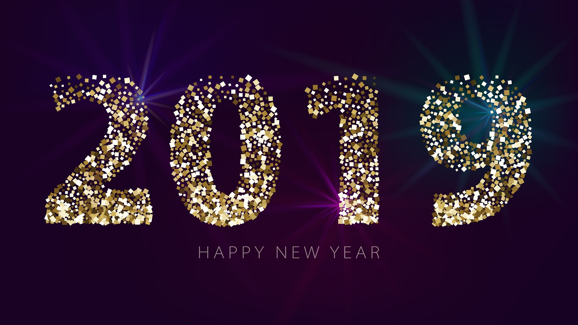 2019 Happy New Year Wallpaper High Quality 1920x1080