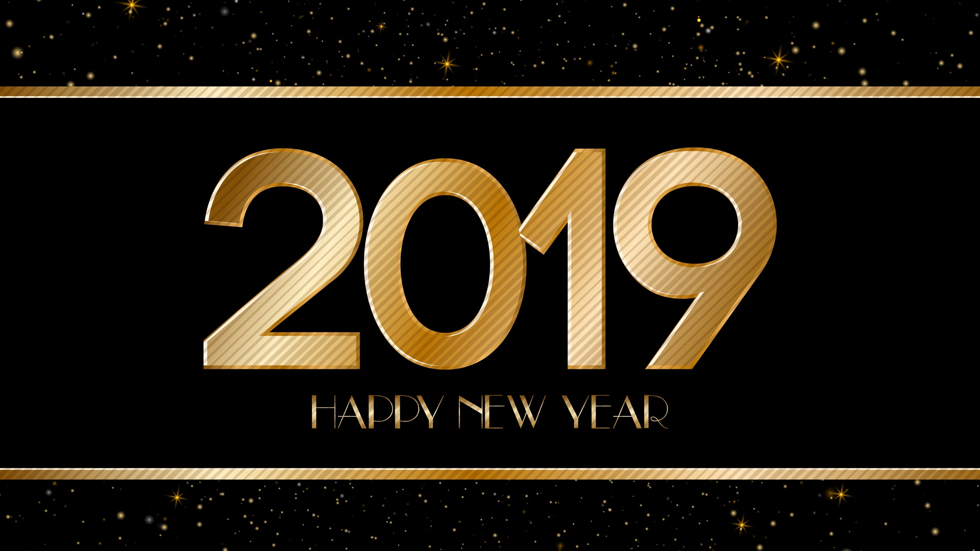 2019 New Year HD Wallpaper 1080p