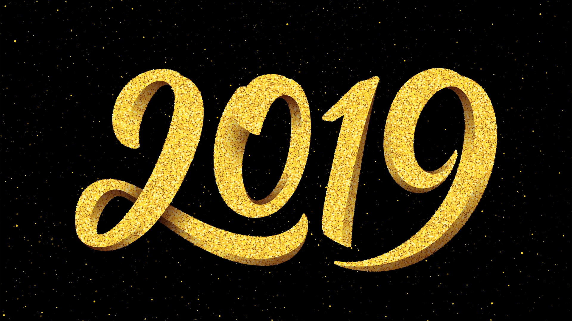 2019 New Year High Definition Wallpaper 1920x1080