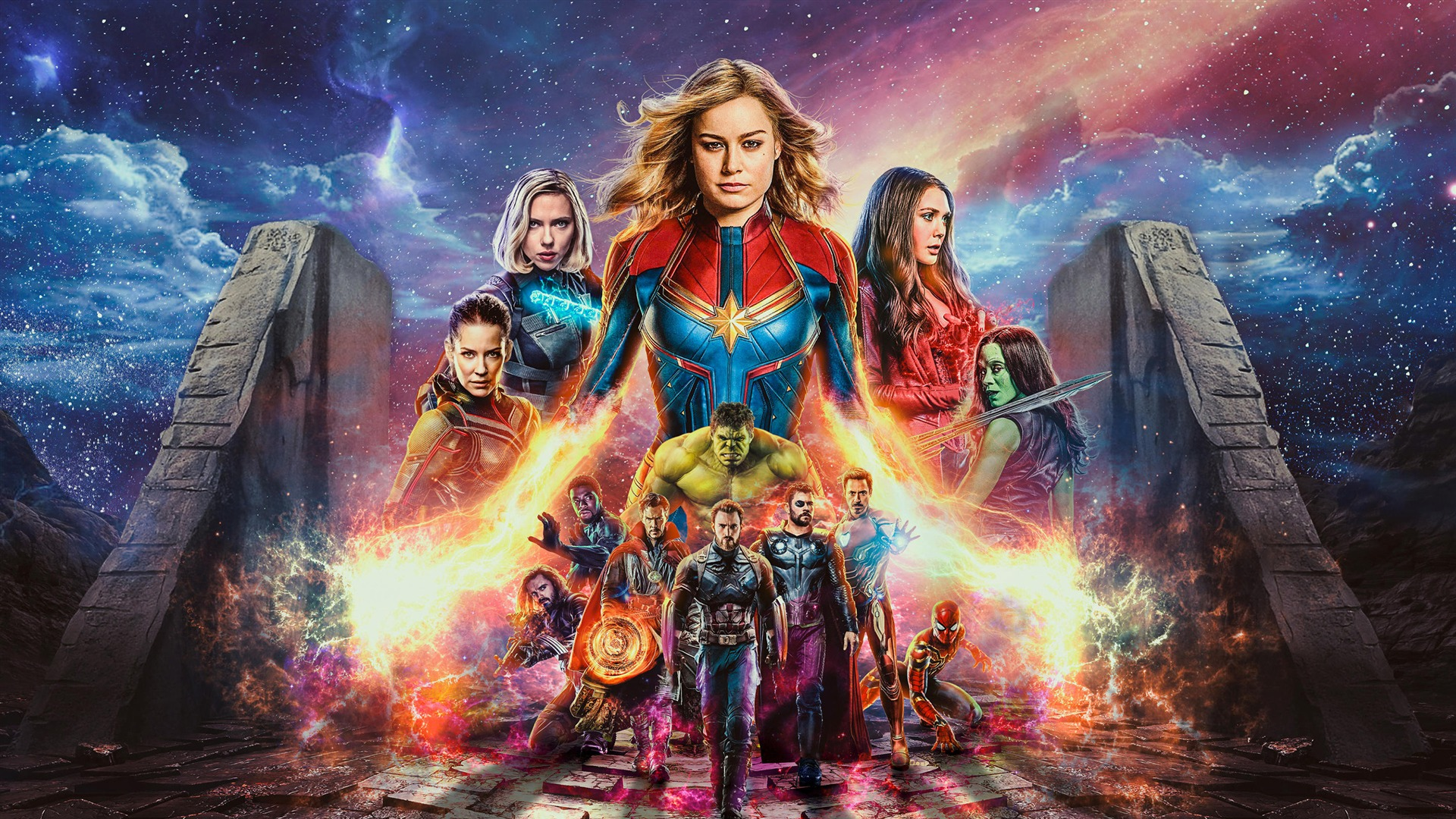 Captain Marvel Avengers Endgame Movie HD Wallpaper 1920x1080
