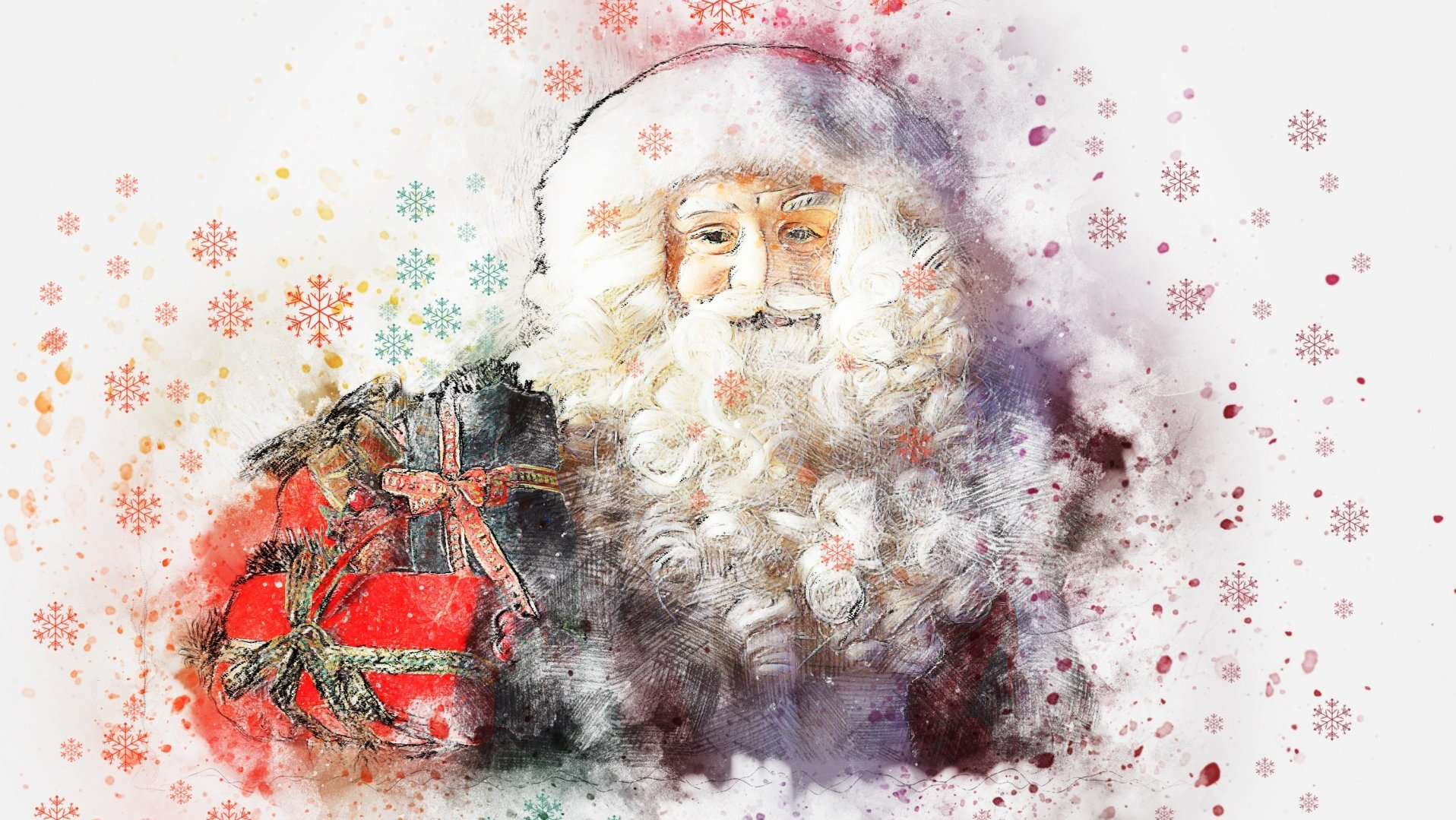 Christmas Santa Painting Art Picture