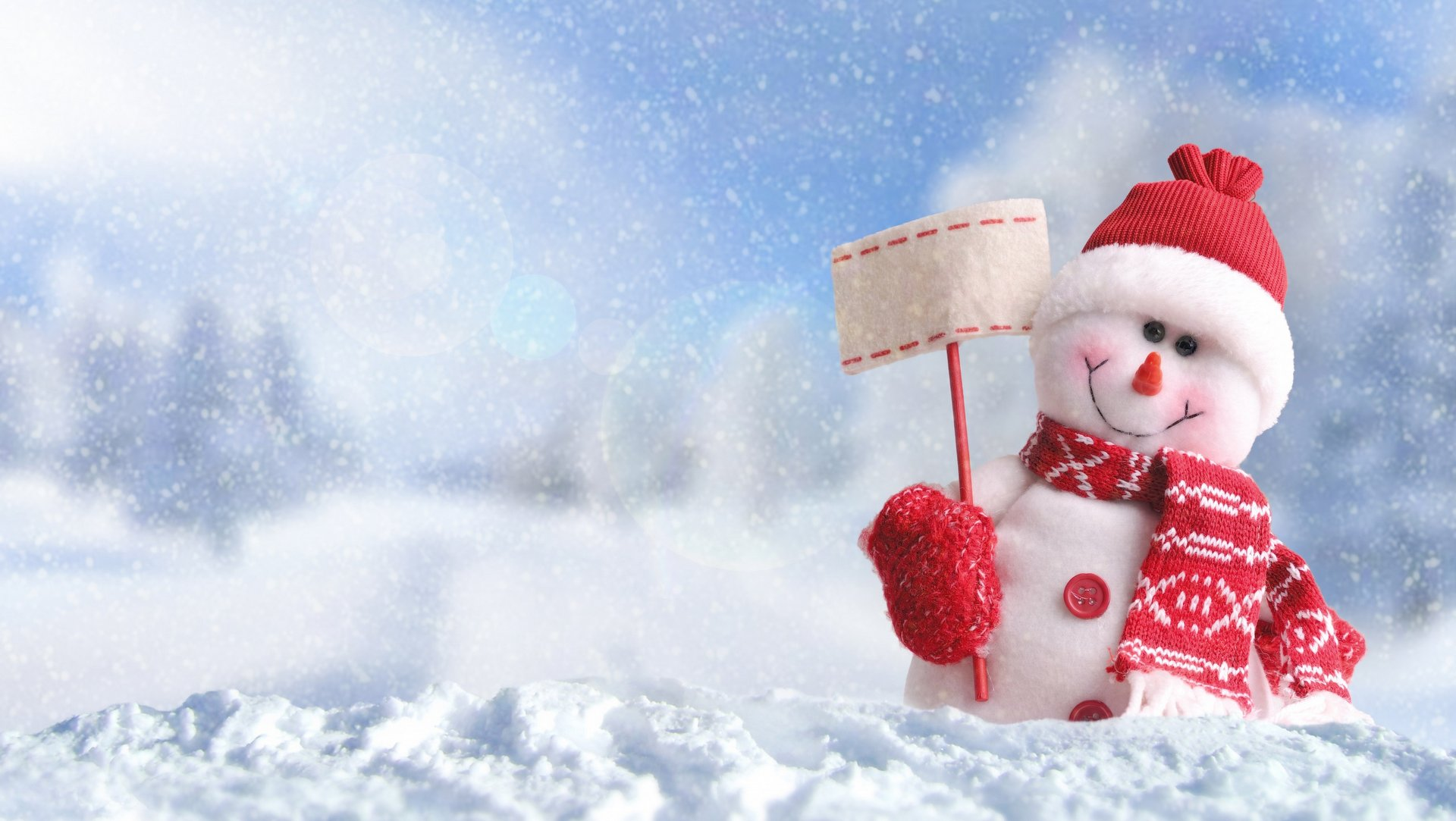 Christmas Snowmen Winter HD Wallpaper 1920x1080