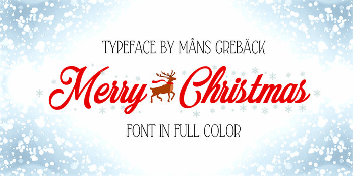 Merry Christmas Color Free Christmas Font