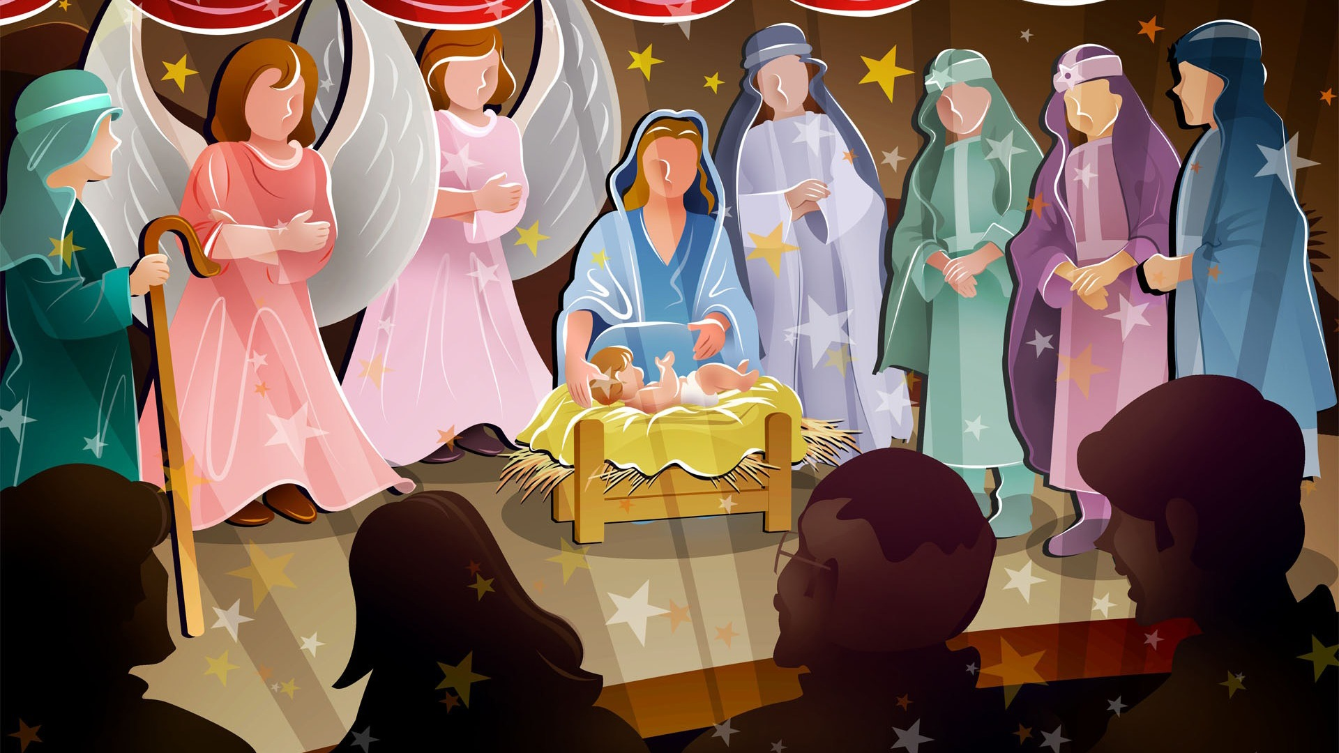 Birth of Jesus Christ image desktop wallpaper 1920x1080