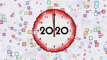 2020 Happy New Year Clock Image