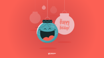 Happy Holidays Minimal Wallpaper 1920x1080