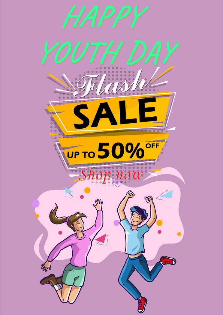Youth Day Shop Flyer PSD