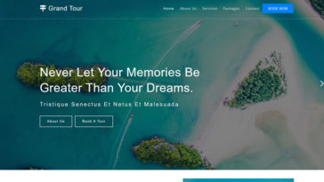 Grand Tour Free Travel Agency HTML Template